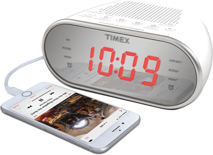 Timex Clock Radio W/ Wireless Streaming Video/ Mobile Viewing/SD Card Recording