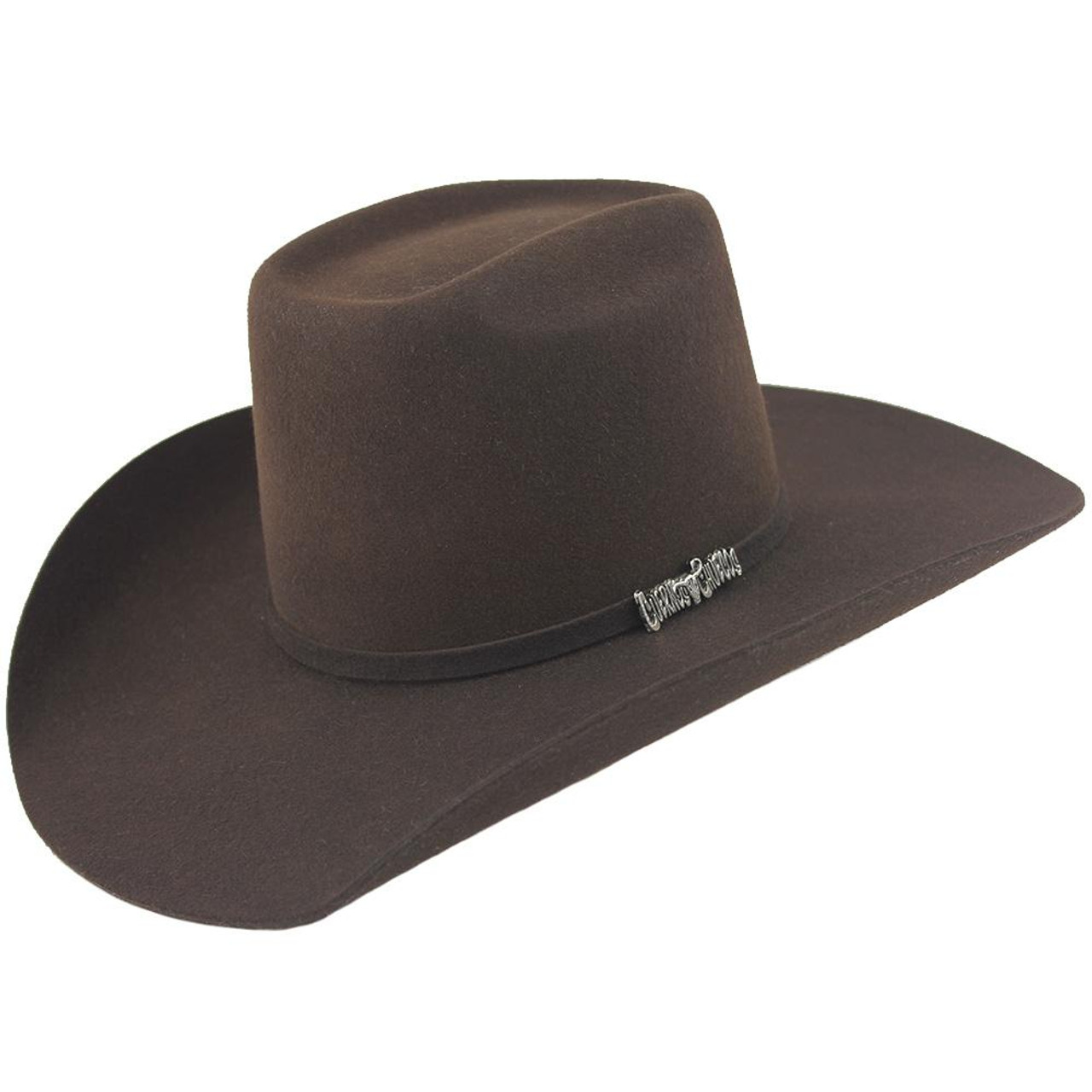 d6767b4c90477 Cuernos Chuecos Chocolate 6X Brick Crown Felt Hat - Warehouse ...