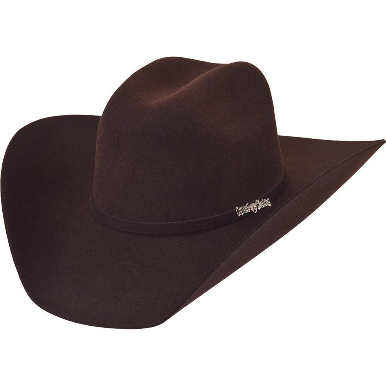 RRango Hats 6X Caporal Fur Felt Hat Color Brown
