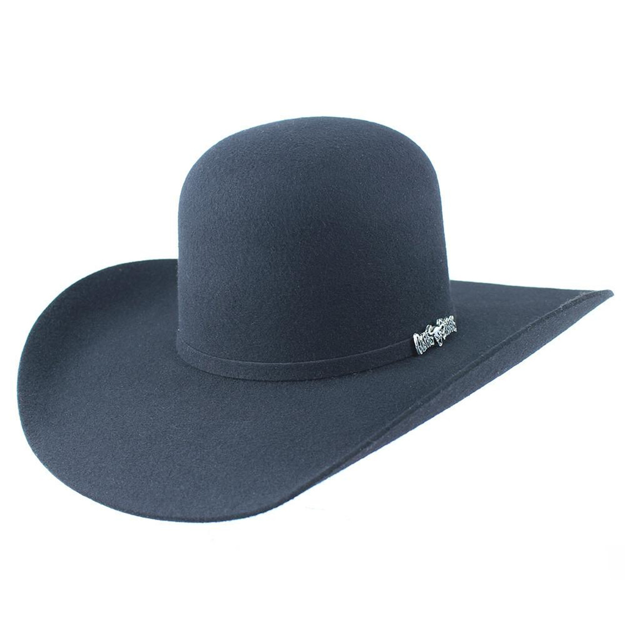 73e60b299 Cuernos Chuecos Open Crown Cowboy Felt Hat