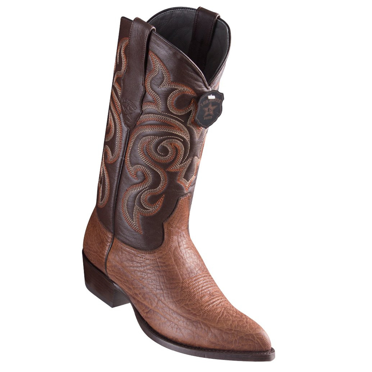 0517cb65200 Los Altos Bull Shoulder Brown Cowboy Boots J-Toe