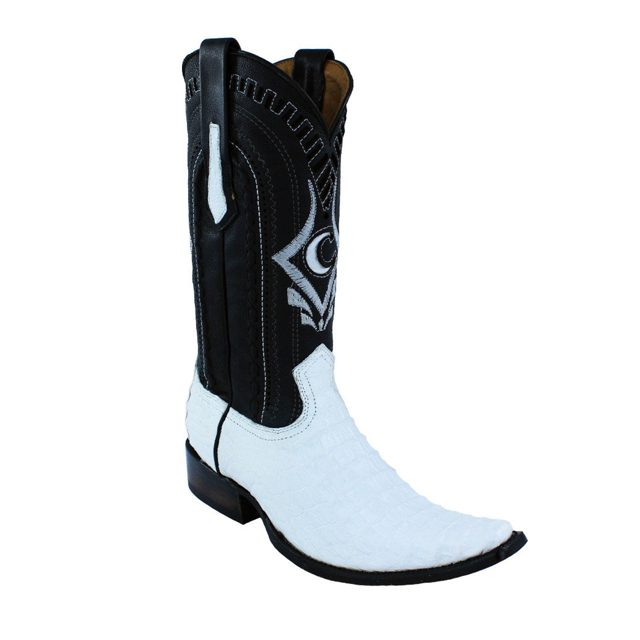 f72cc8adf1e Cuadra Men's White Exotic Caiman Back European Toe Boots