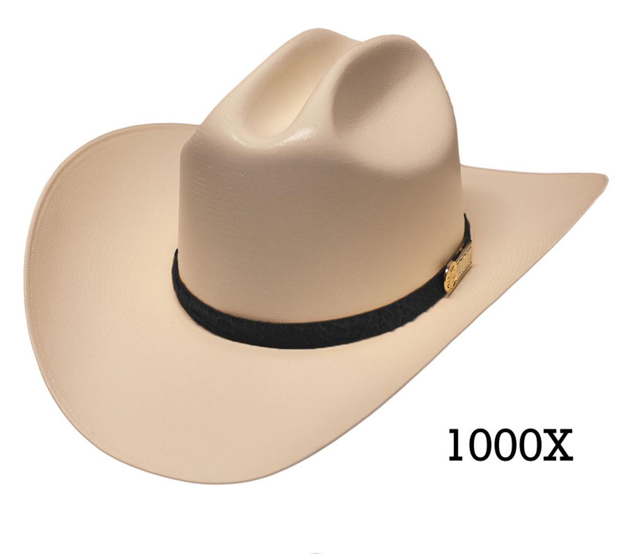 Larry Mahan 500X Superior Fur Felt Cowboy Hat White Size 6 3//4 Brim 3 1//2