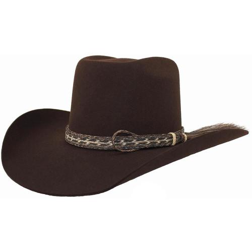 8028c8a17 Cuernos Chuecos 10x Chocolate Grizzly Fur Felt Cowboy Hat ...