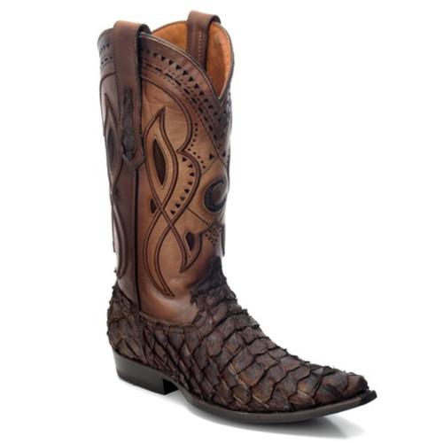 f160e0b8fc0 Cuadra Men's Lumber Bone Caiman Belly Boots - Semi Square Toe ...