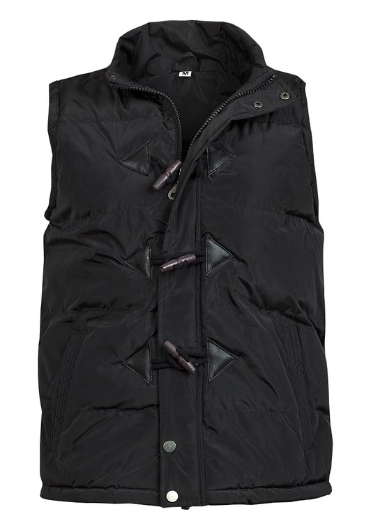 Mens High Neck Toggle Button Padded Bodywarmer