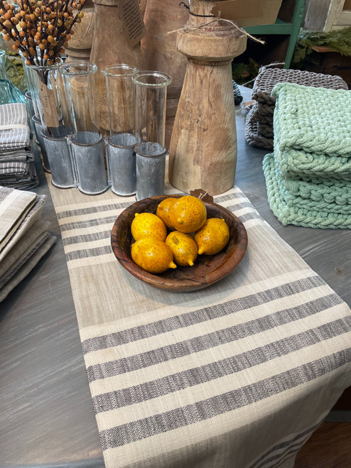 """72"""" x 14"""" Cotton Striped Table Runner"""