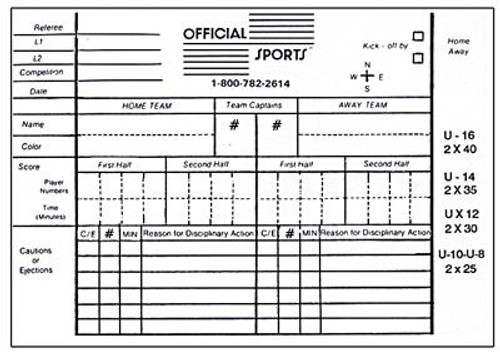 Official Sport Report Forms - IMAGE 1