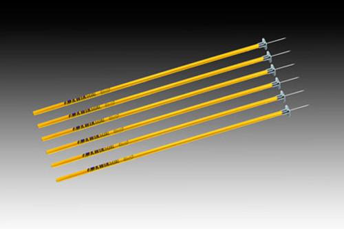 KWIKGOAL Coaching Sticks - Yellow - IMAGE 1