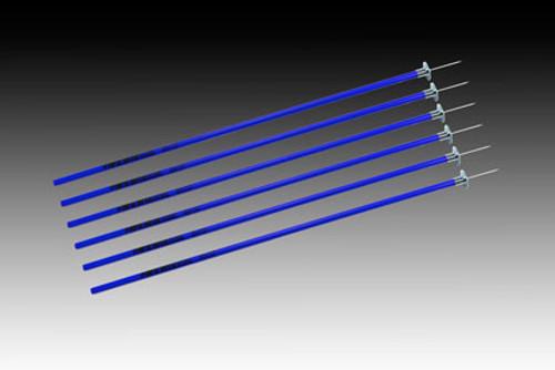 KWIKGOAL Coaching Sticks - Blue - IMAGE 1