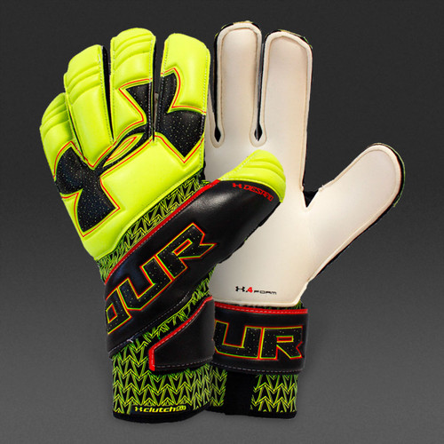 UA Desafio Pro FS GK Glove - High-Vis Yellow/Black/Black - IMAGE 1