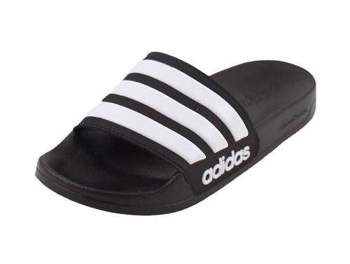 adidas Adilette Slides - Black/WHite - IMAGE 1