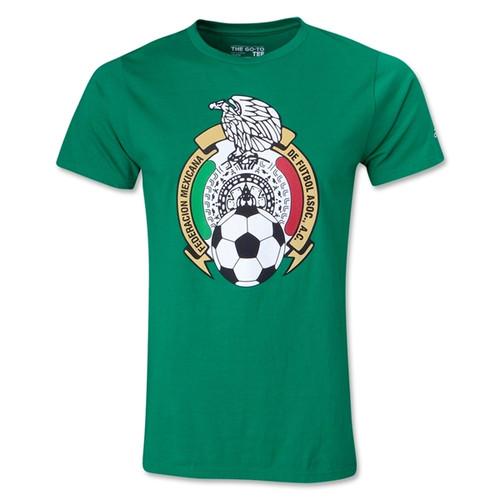 adidas Youth Mexico Logo Tee - Green - IMAGE 1