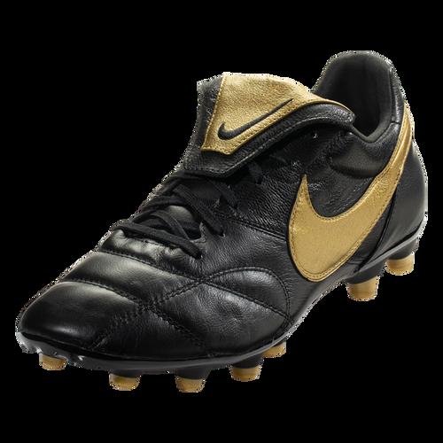 Nike Premier II FG - Black/Metallic Vivid Gold/White - IMAGE 1