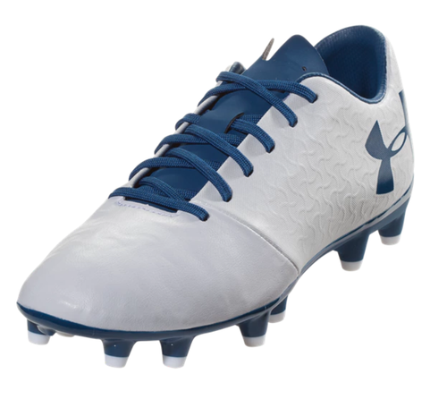 Under Armour Women's Magnetico Select FG - White/Moroccan Blue - IMAGE 1