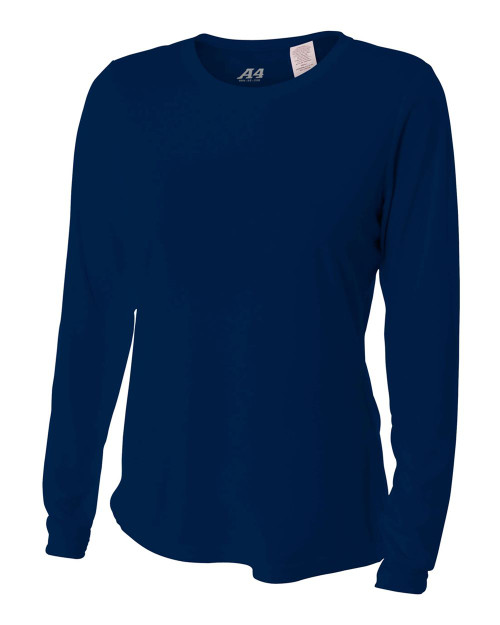 A4 Women's L/S Cooling Performance Crew - IMAGE 1