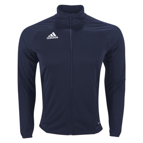 adidas Tiro 17 Training Jacket - Dark Blue/White - IMAGE 1
