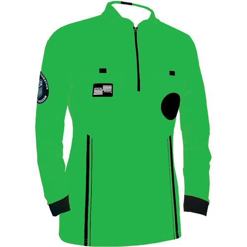 Official Sports USS Women's Pro LS Jersey - Green - IMAGE 1