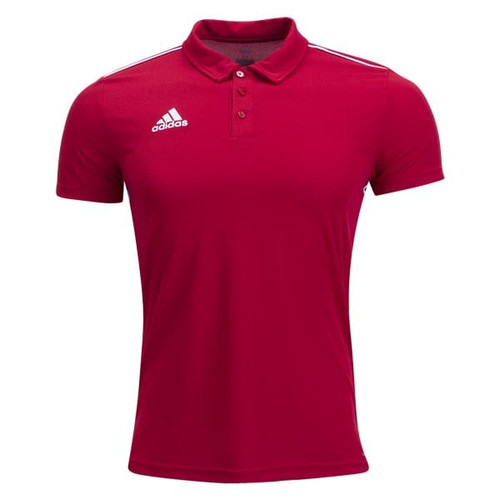 adidas Core 18 CL Polo - Power Red/White - IMAGE 1