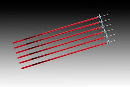 KWIKGOAL Coaching Sticks - Red - IMAGE 1