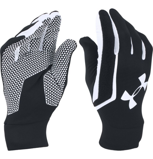 Under Armour Soccer Field Players Gloves - Black/White - IMAGE 1