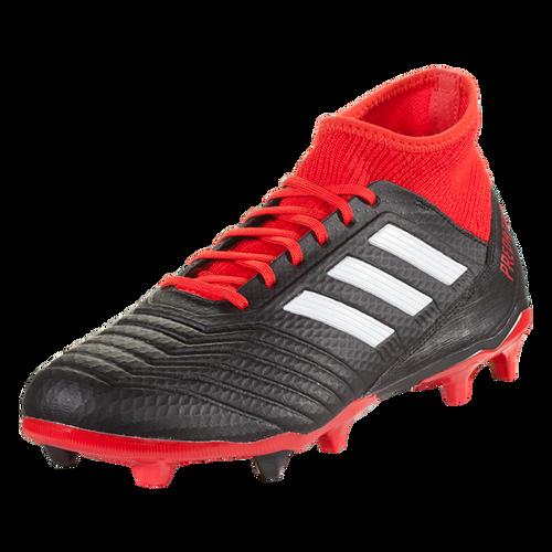 adidas Predator 18.3 FG - Black/White/Red - IMAGE 1