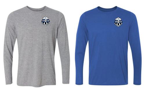 Gulf Coast United LS T-shirt - Royal or Sport Grey - IMAGE 1