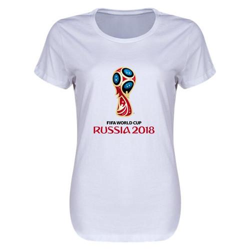 adidas World Cup 2018 Women's Tshirt - White - IMAGE 1