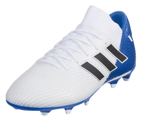 adidas Nemeziz Messi 18.3 FG - White/Black/Blue - IMAGE 1