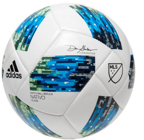 adidas 18 MLS Glider Ball - White/Solar Blue/Shock Blue - IMAGE 1
