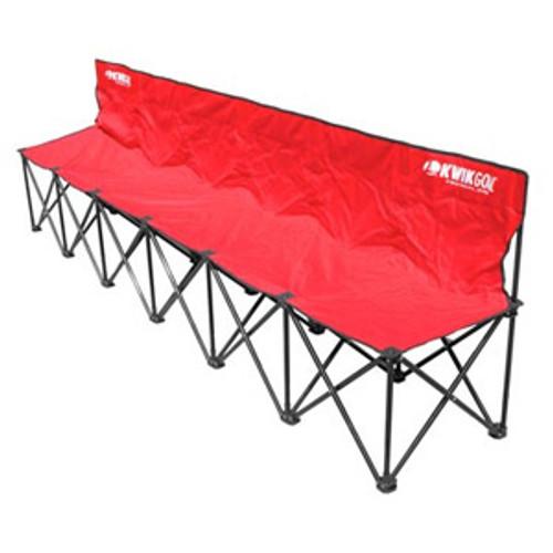 KWIKGOAL 6-Seat Kwik Bench - Red - IMAGE 1