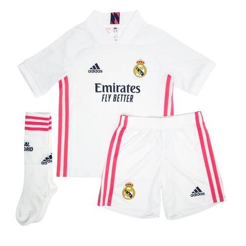 adidas Real Madrid Home Jersey Mini Kit 20/21 - IMAGE 1