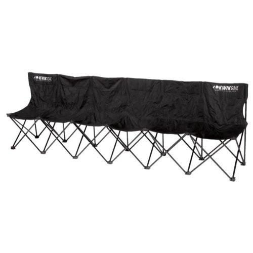 KWIKGOAL 6-Seat Kwik Bench - Black - IMAGE 1