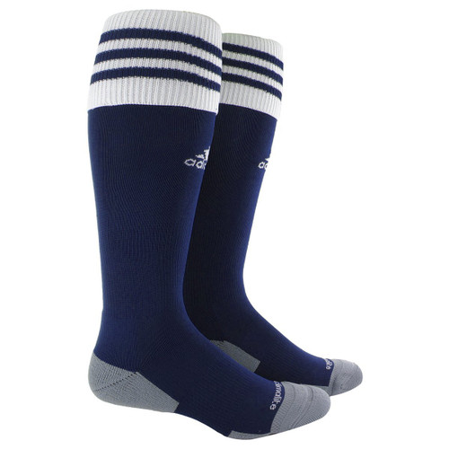 adidas Copa Zone Cushion II Soccer Sock Small - New Navy/White - IMAGE 1
