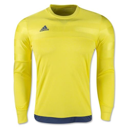 adidas Entry 15 Goalkeeper Jersey - Bright Yellow/Night Marine - IMAGE 1