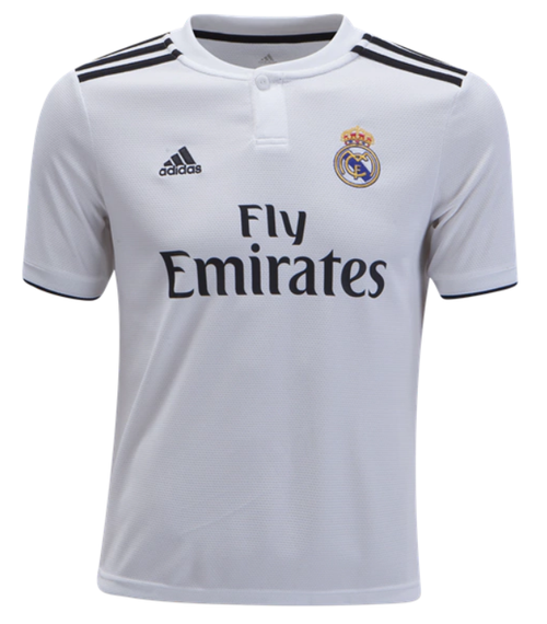 adidas Youth Real Madrid Home Jersey 18/19 - IMAGE 1