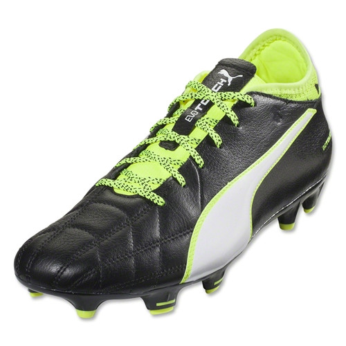 Puma evoTouch 3 Leather FG - Black/White/Safety Yellow - IMAGE 1