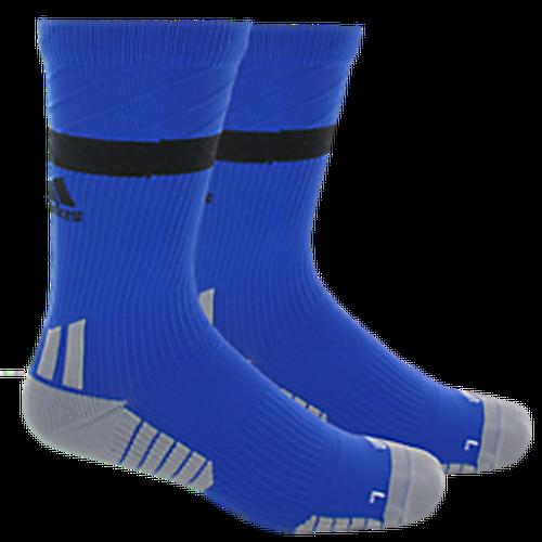 adidas Traxion Premier Crew Sock - Bold Blue/Black/Light Onix - IMAGE 1