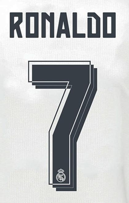 Real Madrid 15/16 Ronaldo #7 Home Name set - IMAGE 1