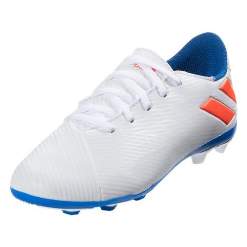 adidas Junior Nemeziz Messi 19.4 FxG - White/Solar Red/Blue - IMAGE 1