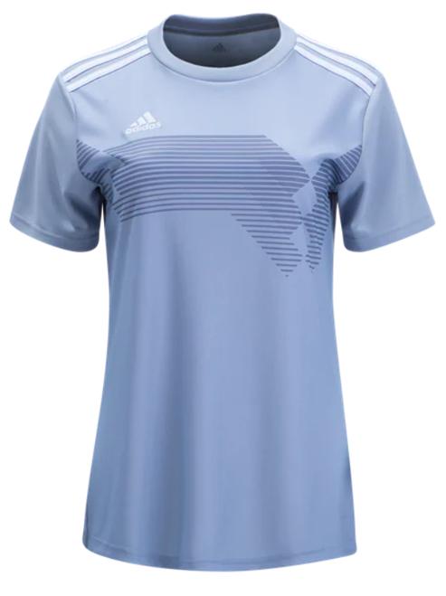 adidas Women's Campeon 19 Jersey - Light Grey/White - IMAGE 1