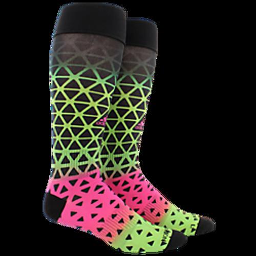 adidas Metro Ace 3D Print Sock - Black/Solar Green/Shock Pink - IMAGE 1