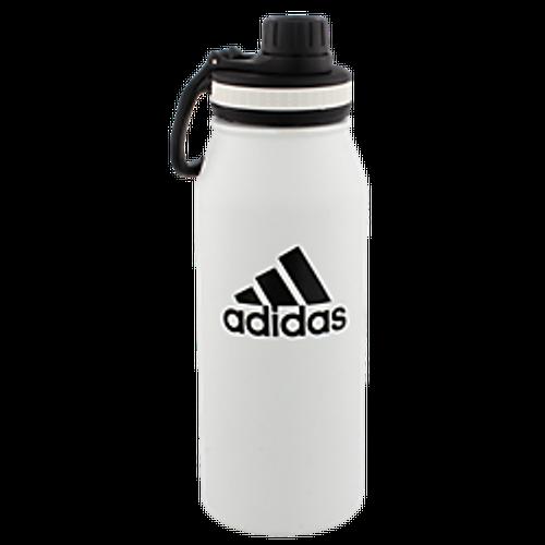 adidas Steel 1L Metal Bottle - White - IMAGE 1