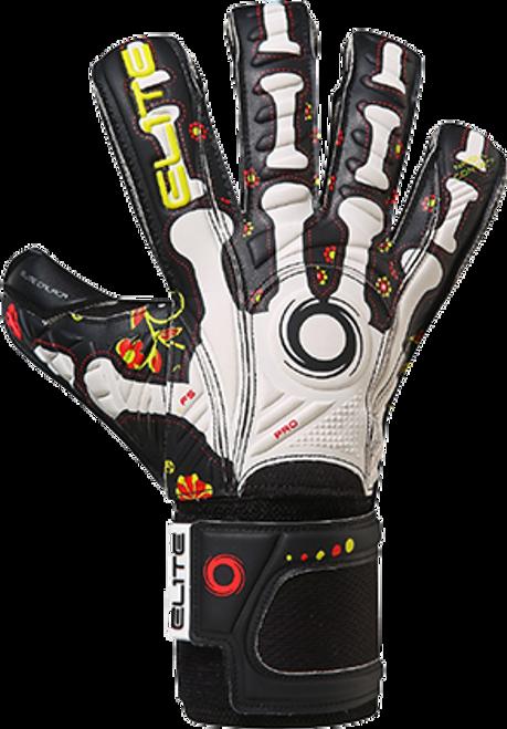 Elite Calaca Goalkeeper Gloves - White/Black - IMAGE 1