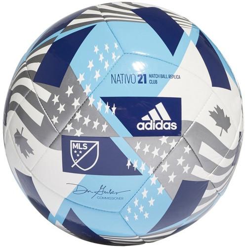 adidas MLS Club Ball - White/Cyan/Metallic - IMAGE 1