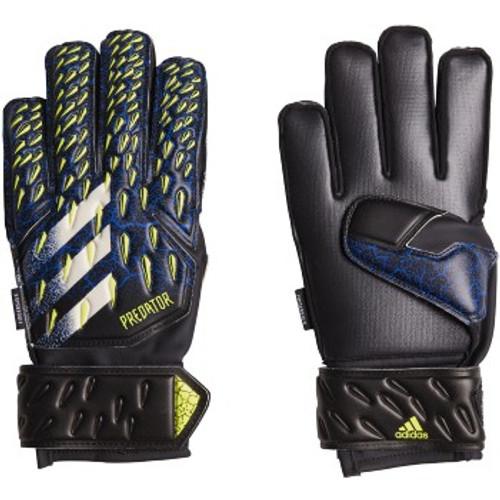 adidas Predator Match Fingersave Goalkeeper Glove - Black/Royal - IMAGE 1
