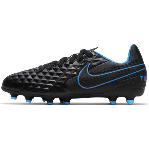 Nike Junior Tiempo Legend 8 Club FG - Black/Photo Blue - IMAGE 1