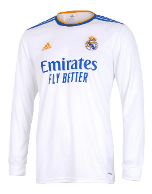 adidas Real Madrid Home LS Jersey 21/22