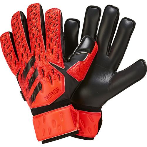adidas Predator Match Fingersave Glove - Solar Red/Black