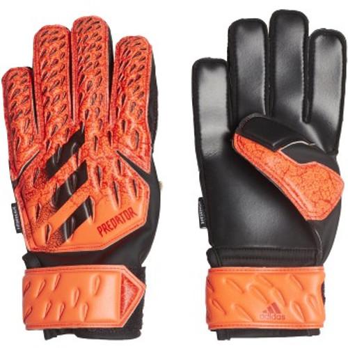 adidas Predator Match FingerSave Jr GK Glove - Solar Red/Black